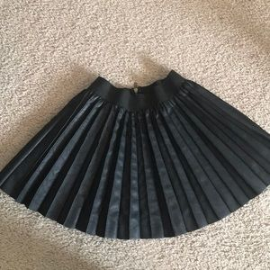 Asos faux leather pleated mini circle skirt